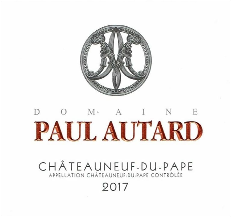 Paul Autard Chateauneuf-du-Pape (375ML Half-bottle) 2017  Front Label