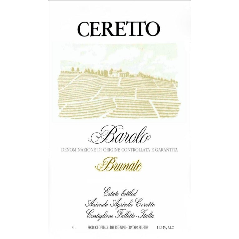 Ceretto Brunate Barolo 2012  Front Label