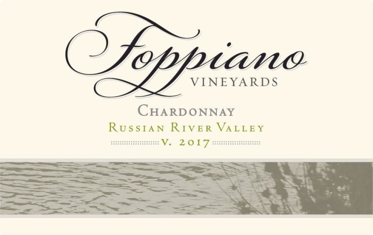 Foppiano Estate Chardonnay 2017 Front Label