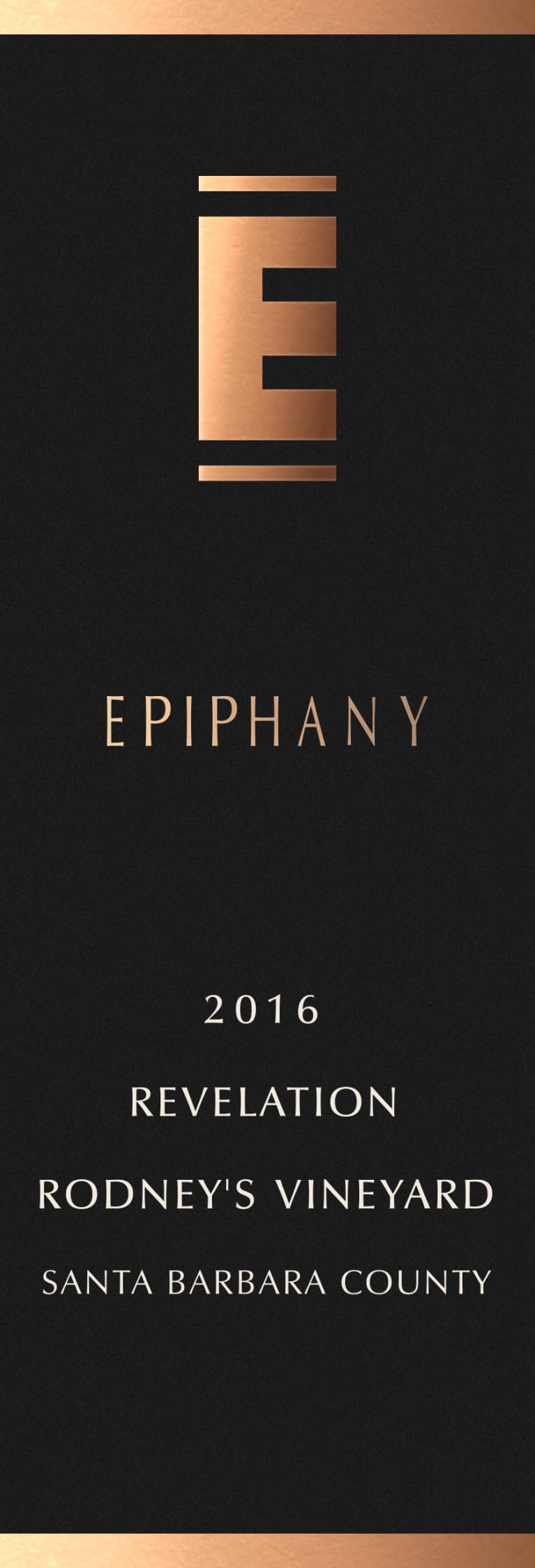 Epiphany Revelation Red 2016  Front Label