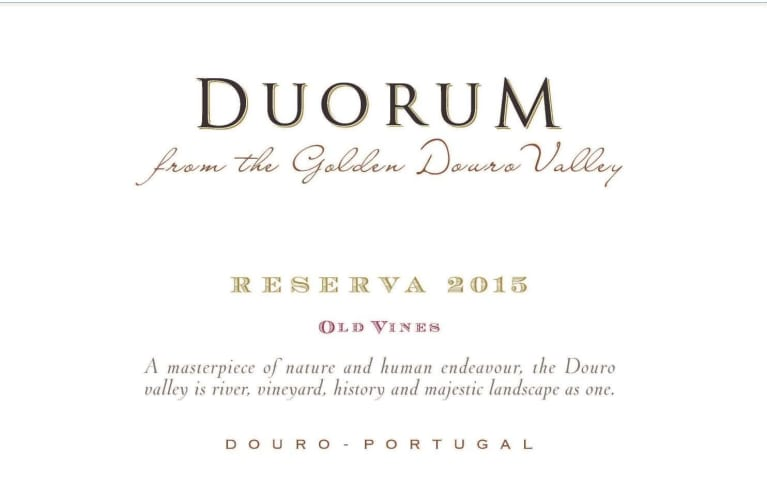 Duorum Old Vines Reserva 2015  Front Label
