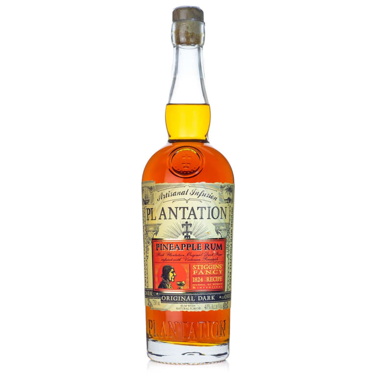 Plantation Stiggins' Fancy Pineapple Rum  Front Bottle Shot