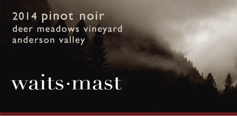Waits-Mast Family Cellars Deer Meadows Vineyard Pinot Noir 2014  Front Label