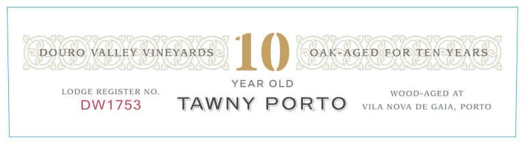 Dow's 10 Year Old Tawny Port  Front Label
